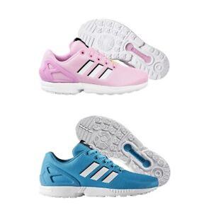 Scarpe Sportive da Ginnastica Donna Bambino Sneakers Adidas ZX Flux Rosa Azzurro