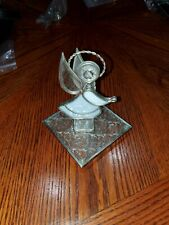 """Stained glass angel figurine 5"""" With Base 4x4"""