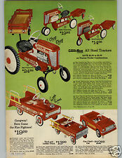 1966 PAPER AD Super-Sonda Scooter Pedal Car Tractor Hook Ladder Fire Chief