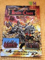 realm of chaos warhammer SCARCE SUPPLEMENT OPENS TO LARGE POSTER