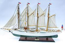 "Esmeralda Chilean Training Tall Ship Wooden Model 37"" Built Wooden Model NEW"