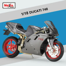 Maisto 1:18 Scale DUCATI 748 Motorcycle Diecast Model Toys & Gift New In Box