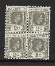 MAURITIUS, KGV1, 1938 DEFINS, 2c  SG 152, MNH BLOCK 4,