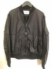 Our Legacy Black Nylon Men's Bomber Jacket Size 48 (M)