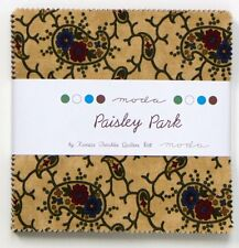 """MODA 5"""" Charm Pack - PAISLEY PARK by KANSAS TROUBLES QUILTERS - 42 Squares"""