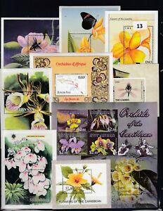 NT WHOLESALE 10S/S  - MNH - NATURE - FLOWERS  - ORCHIDS  - FLORA - PLANTS