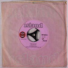 JETHRO TULL: Love Story / A Christmas Song  45 (UK, original pink label disc cl