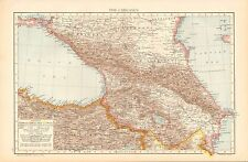 1893 ANTIQUE MAP - RUSSIA-THE CAUCASUS
