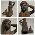 Cast Iron with Rust Vintage Nautical Mermaid Statue Rare