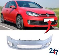 NEW VW GOLF GTI GTD MK6 2008 - 2012 FRONT BUMPER WITH HEADLIGHT WASHER HOLES