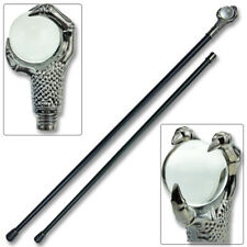 Claw Walking Cane 37 in Staff W Crystal Ball