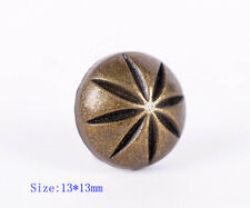 30pc 13MM COPPER DIY LEATHER CRAFT FLORAL ENGRAVED BELT CONCHOS RIVET STUD DECOR