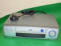 LG VCR VHS VIDEO CASSETTE RECORDER Vintage LV210 Silver Smart Fully Tested