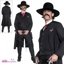Deluxe Authentic Western Sheriff Costume Adult Mens Cowboy Wild West Fancy Dress