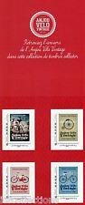 Bloc collector personnalisé autocollant velo vintage 2014 de 4 timbres