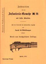 Büchsenmacher: Anleitung Instruktion Gewehr M/71 Mauser 1878 Pflegen Zerlegen