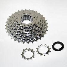 Cassettes y piñones de plata para bicicletas