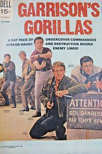 Garrison's Gorillas #1 1968 Dell Silver Age Comic VF 8.0 15 cent cover