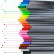 24 Colors Art Oil Watercolor Pencil Drawing Painting Pens Brush Marker Pen Set