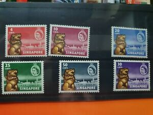 Singapore 1959 New Constitution set of 6, hinged mint