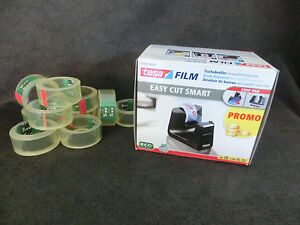 tesa EASY CUT SMART Tisch- Klebeband- Abroller Nr. 53903 + 11 Rollen Film (WS)