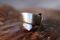ausgefallener Ring 925er Sterling Silber Schleife Scherpe Unikat Silberschmiede