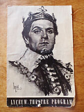 """1930s Lawrence Olivier """"Henry V"""" Play Lyceum Theatre Minneapolis MN Program Ads"""