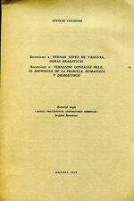 Osvaldo Chiareno RECENSIONE F. L. DE YANGUAS OBRAS DRAMATICAS Dedica autore