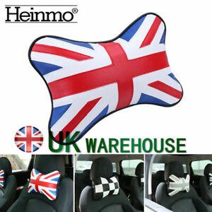 Union Jack Car Seat Head Neck Rest Cushion Pad Headrest Pillow For MINI Cooper