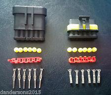 6 Pin Automotive Plug Pair - for Motorbike, Cars - Flame Retardant & Water Proof