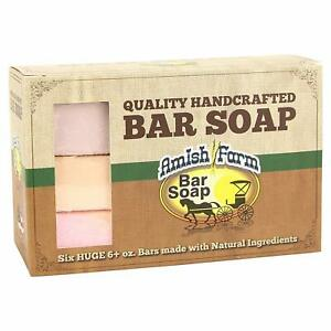 Hand Crafted Soap Bars Amish Farms Natural Ingredient Bar Soap 6 HUGE