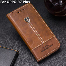 Pu Leather Wallet Case Card Slot Shockproof Flip Cover 6.0'' For OPPO R7 Plus