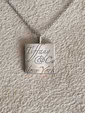 STERLING SILVER TIFFANY & CO SQUARE NOTES PENDANT NECKLACE 16 INCHES