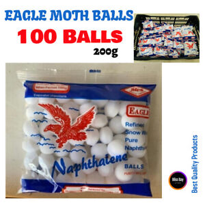 Napthalene Moth Balls Pest Control Moth Balls Repellent Camphor Balls - 100 Ball