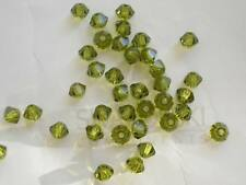 48 Olivine Swarovski Crystal Beads Bicone 5328 3mm