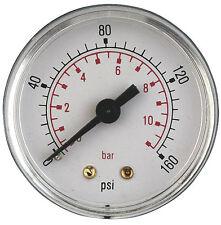 Air Pressure Guage 1/8 bsp Rear Entry 40mm dial 0-160psi bx