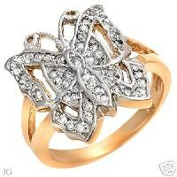 Gorgeous Ring With 0.50ctw Genuine Diamonds  Size 7.25.