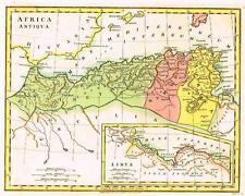 "Wilkinson Map -1798- ""AFRICA ANTIQUA"" & ""LIBYA"" Hand-Colored"