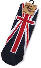 MENS CEDAR WOOD STATE BRITISH UNION JACK NOVELTY SOCKS UK SIZE 9-12