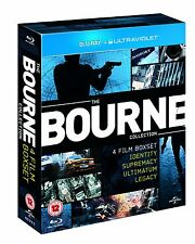 """THE COMPLETE BOURNE 4 MOVIE COLLECTION 4 DISC BOX SET BLU-RAY RB """"NEW&SEALED"""""""