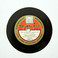 "MELLOW AND RICH ""Sweetheart Songs Of Long Ago"" 9"" BROADCAST 866 [78 RPM]"