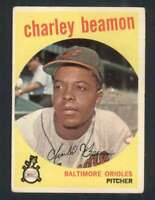 1959 Topps #192 Charley Beamon EX/EX+ RC Rookie Orioles 57531