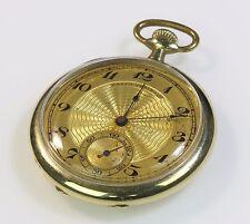 Swiss Gruen Verithin 17 Jewel 10K Gold Filled Pocket Watch Rare Condition