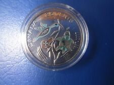 25 Cents Coloured Coin 150TH Anniversary of Canada  2017 encapsulated -Uncircul