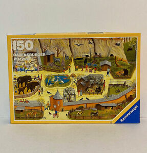 RARE VTG Germany 1988 Ravensburger Zoological Gardens 150 Piece Puzzle Otto Game