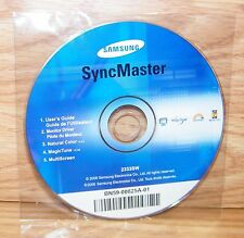 Samsung SyncMaster Software / User's Guide Disc For 2333sw Monitor **READ**
