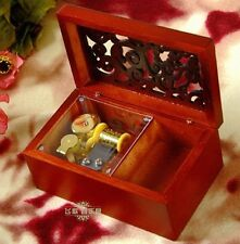 Wooden Rectangle Carving Jewelry Music Box: Imagine @ John Lennon
