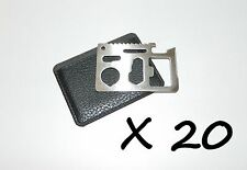 20 X Outdoor Emergency Survival Compact Strong Thin Multi Tool Card With Case