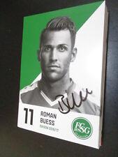61050 Roman Buess FC St. Gallen 16-17 original signierte Autogrammkarte