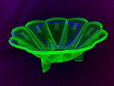 Art Deco URANGLAS URAN GLAS Puddingschüssel Anbietschale Glasschale Schale LOOOK